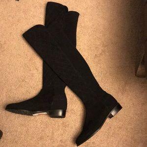Stuart Weitzman Suede quilted boots